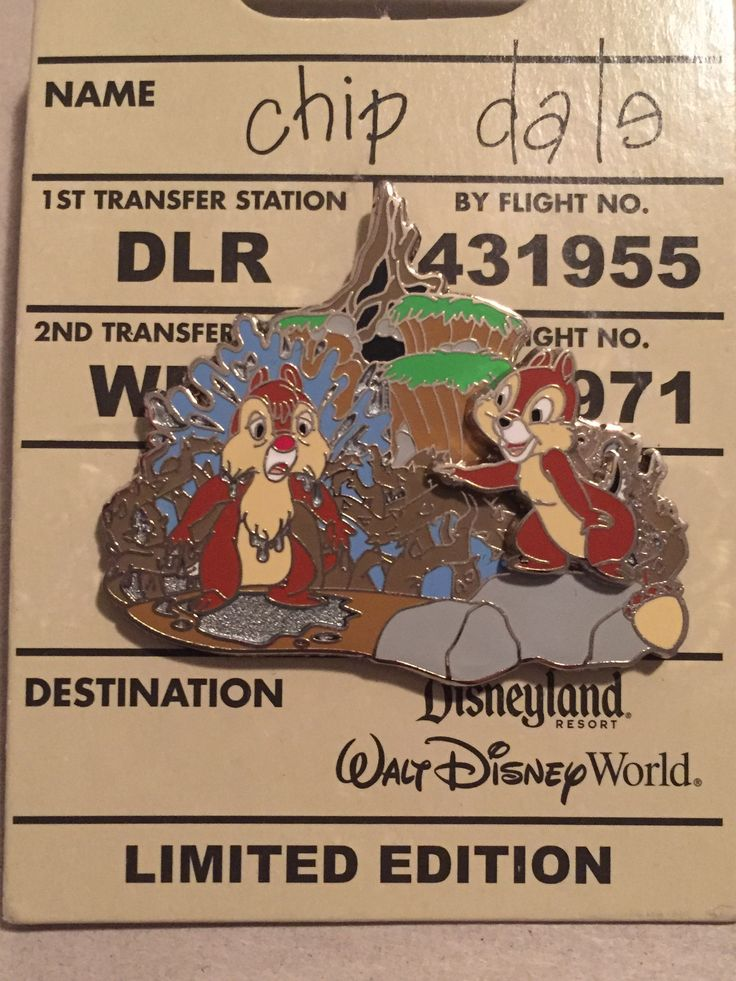 In this pin Chip and Dale enjoy an exciting adventure at Splash Mountain. This pin features Chip laughing at a soaking wet Dale in front of the Splash Mountain® Attraction. An acorn icon is featured i