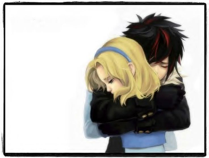 Human Shadow the Hedgehog and Maria Robotnik hugging...