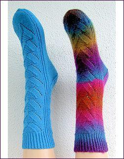 matenoverzicht sokken breien