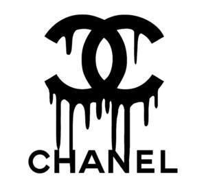 chanel drip logo vinyl painting
