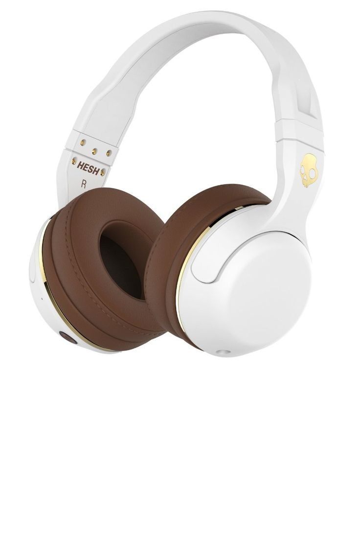 Skullcandy S6HBJY-534 Hesh 2 Bluetooth Wireless Headphones with Mic, White/Gold | Amazon.com