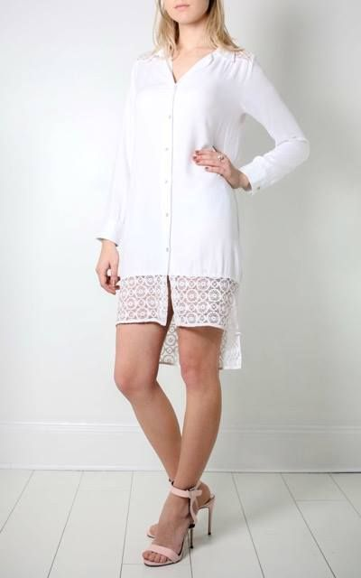 Crochet Shirt Dress by Lily and Carter | Summer sale now on TARLEE.com | TARLEE