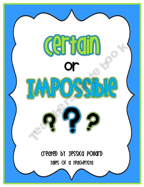 Certain or Impossible? {Probability Sort}