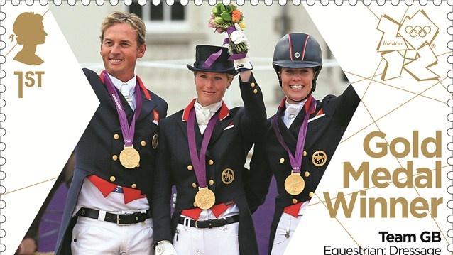 Team GB Equestrian gold stamp