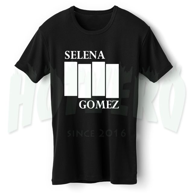 Selena Gomez Black Flag Inspired T Shirt //Price: $14.00//     #90shiphopfashion