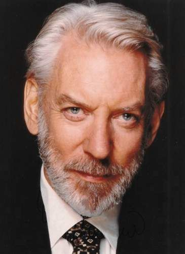 Donald Sutherland. The man is brilliant. And that's not just talking about his acting, he's really smart.