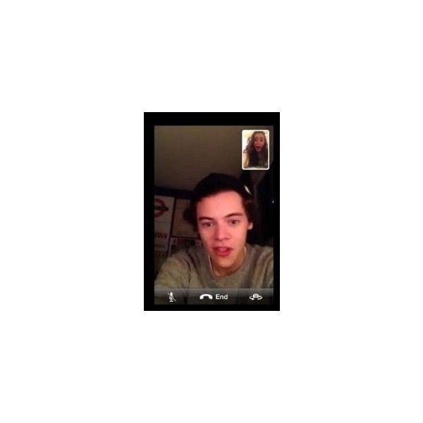 Harry Styles zadzwonił do fanki na Skype! (ZDJĘCIA) harry styles skype... ❤ liked on Polyvore featuring one direction, harry styles, harry, pictures and templates