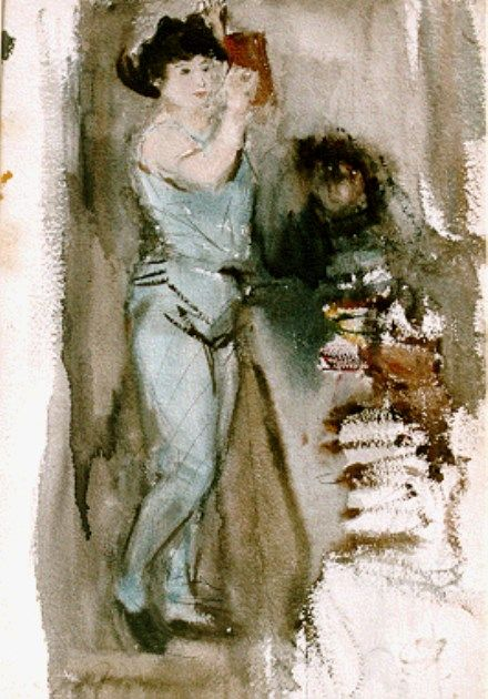 'Isaac' Lazarus Israels (Amsterdam 1865-1934 Den Haag) The dancer - Dutch Art Gallery Simonis and Buunk Ede, Netherlands.