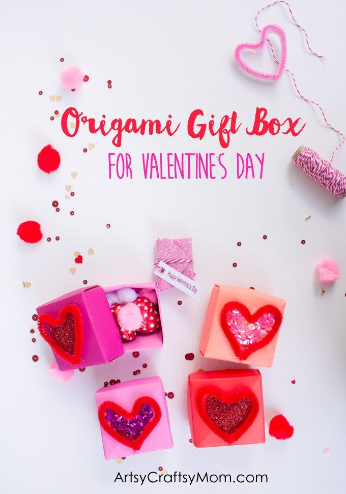 Diy Origami Gift Box For Valentines Day Origami Gifts Diy