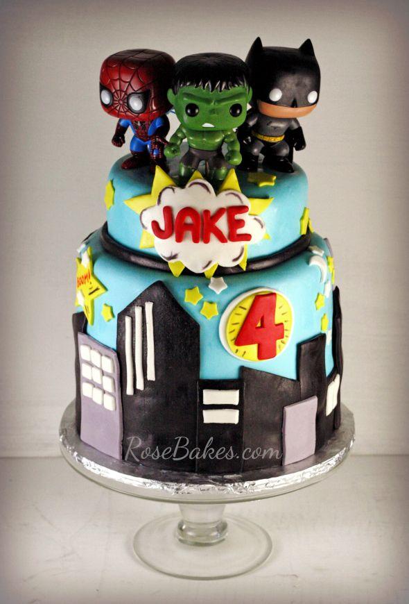 Super Heroes Cake & Cake Pops