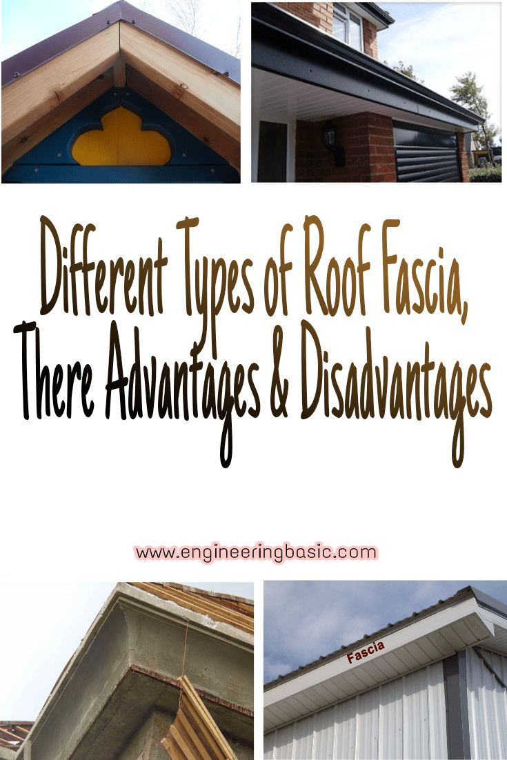 Different Types Of Roof Fascia Their Advantages Disadvantages Engineering Basic Roof Roofing Basics Fibreglass Roof