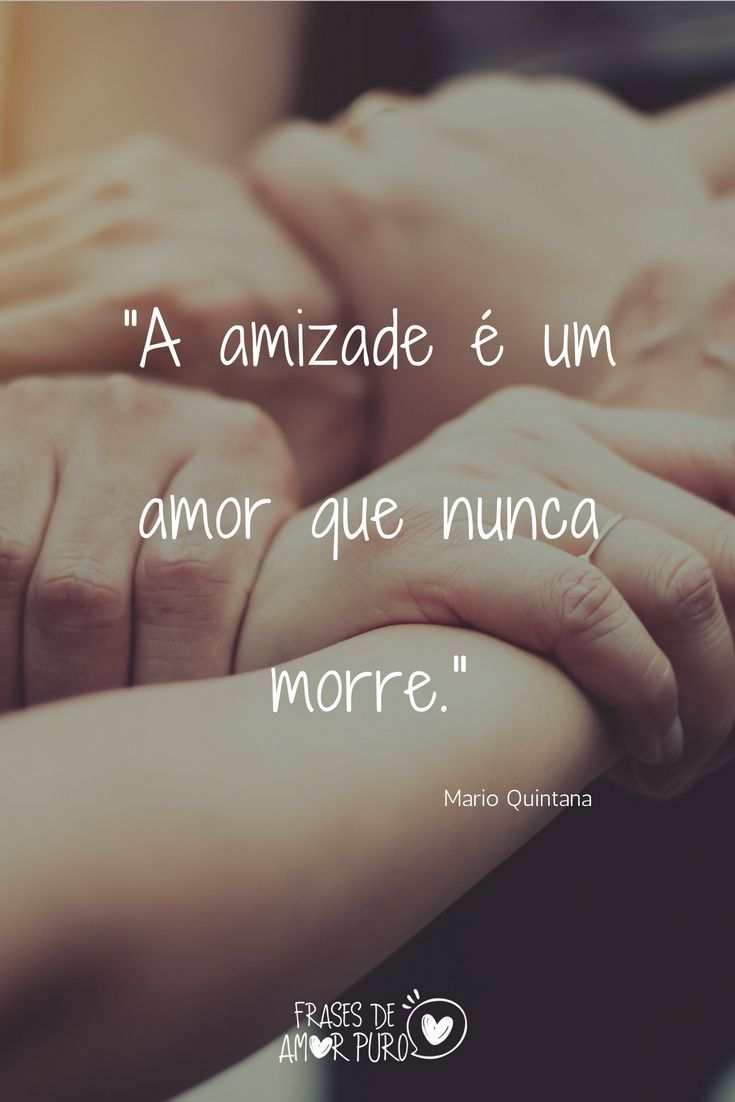 A Amizade é Um Amor Que Nunca Morre Mario Quintana Pedro Sabino