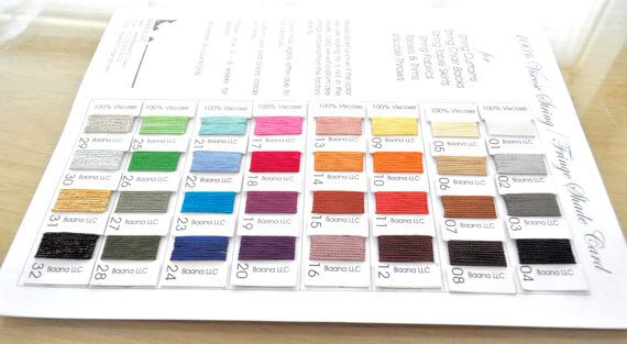 Color Shade Card for String Curtain Tassels and by UltimaDecor, $6.00