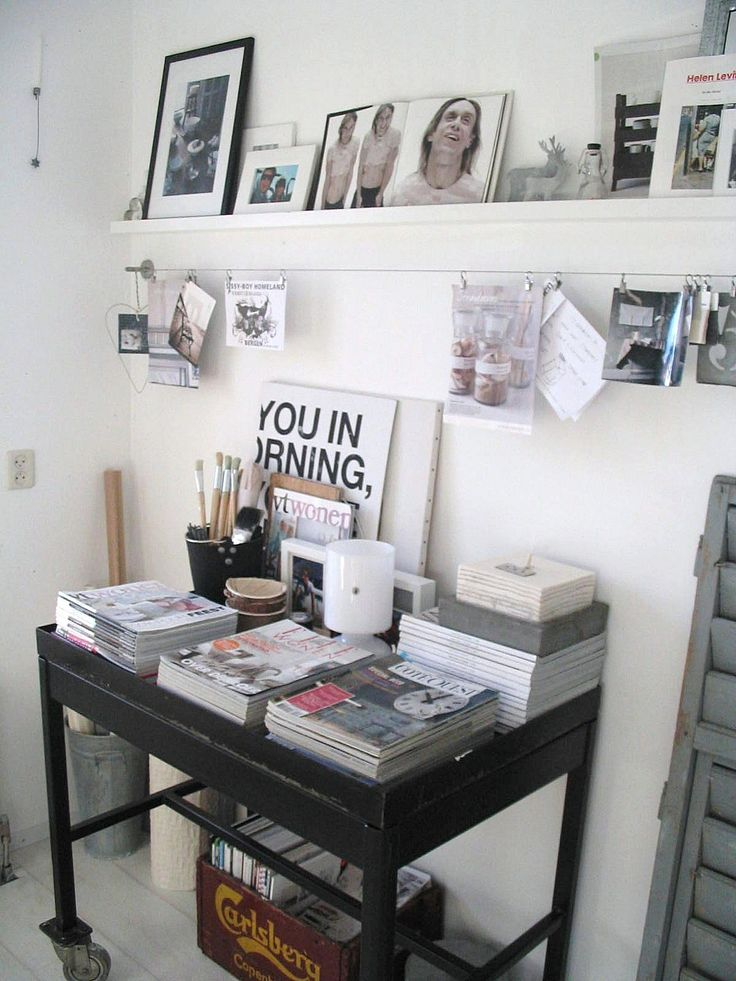 Above the office desks