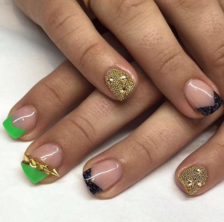 Fierce Nails by @GlossNailStudio - spikes and studs from @IzBeautyofLondon