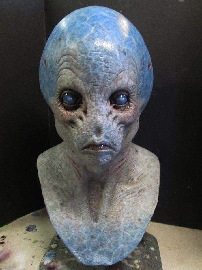 dettagli su halloween mask prop alien grey ufo movie quality zombie monster creature - Alien Halloween Masks