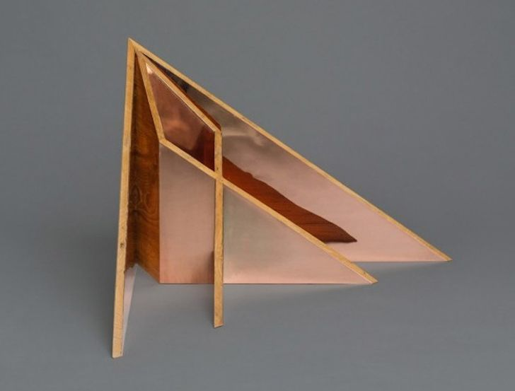 furniture architecture. aljoud lootahu0027s oru origami furniture is made from teak felt and copper architecture