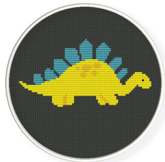 Stegosaurus cross stitch pattern