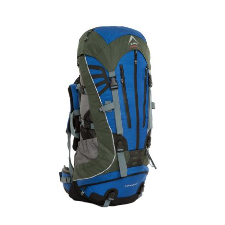The K-Way Advance 65 Backpack is one of the best-looking backpacks available, the Advance 65 is built to perform. Includes waterproof zippers, splash cover and side compression straps. An Air-vantage backing system allows for increased ventilation. A narrow, streamlined frame is suited for climbing and off-trail use. Ice axe compatible.