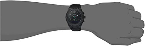 GUESS Men's CONNECT Smartwatch with Amazon Alexa and Genuine Leather Strap Buckle – iOS and Android Compatible –  Black   Seamleasly integrated with Alexa, Amazon's cloud-based voice service. Just tap and ask Alexa, to enjoy thousands of skills on the go, such as hearing the latest news, weather and traffic reports, check sport scores, and much more.Lasting 3-5 days on a single charge and up to 2 years on Analog, CONNECT tastefully blends the longevity of an Analog Wa...