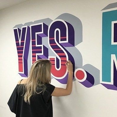 Gorgeous hand painted mural by @i_am_lillylou | #typegang if you would like to be featured | typegang.com | typegang.com #typegang #typography