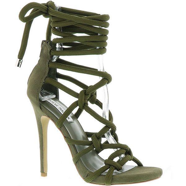 363a3fada54 Steve Madden Dream Women's Green Sandal ($130) ❤ liked on Polyvore ...