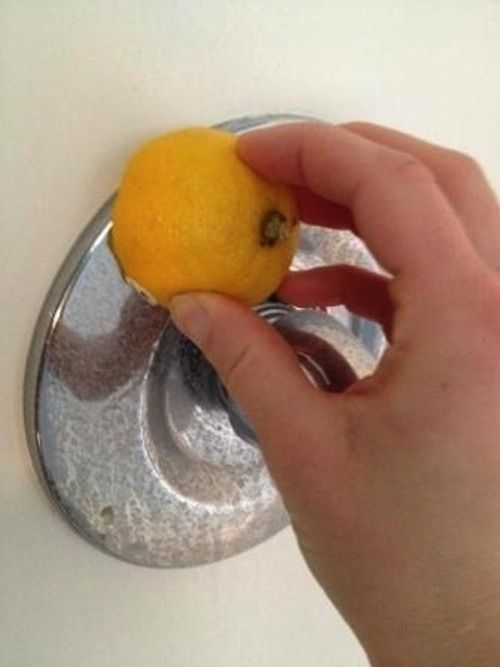 Use a lemon to get rid of water stains.