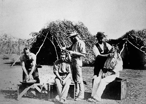 Sunday morning in camp, Coolgardie, 1895