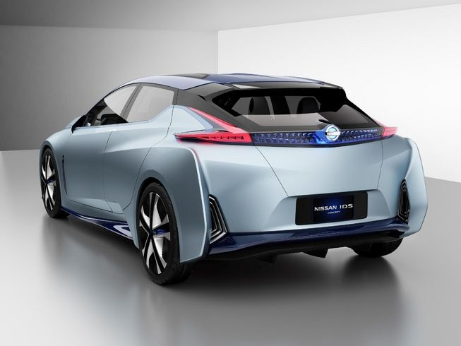 Nissan Electric Cars On Roads Faster Back View