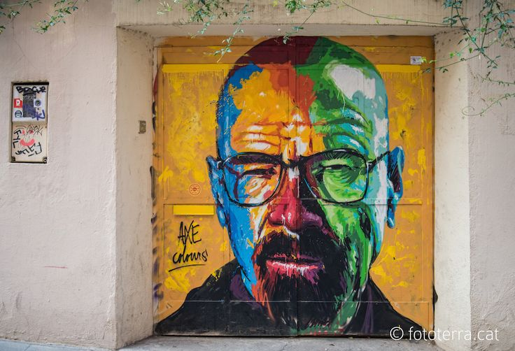 Walter White - By Axe Colours in Barcelona, Spain - http://streetiam.com/walter-white-by-axe-colours-in-barcelona-spain/