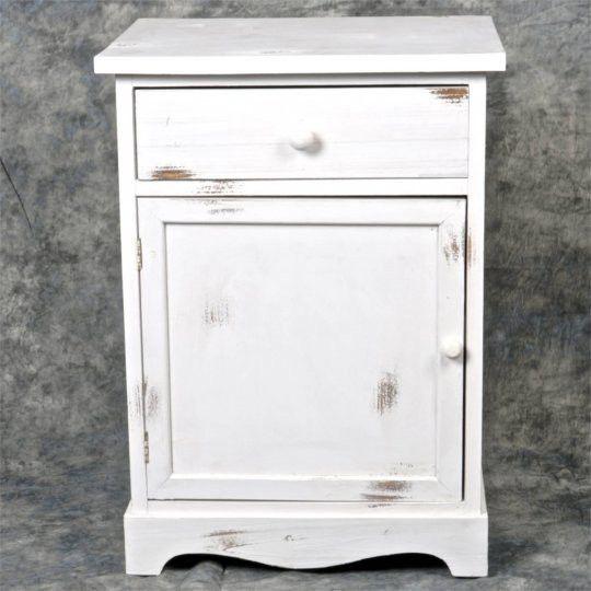 Whitewashed Wooden Nightstand