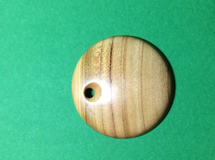 Almond wood pendant ,made in NZ. Latheabout.com