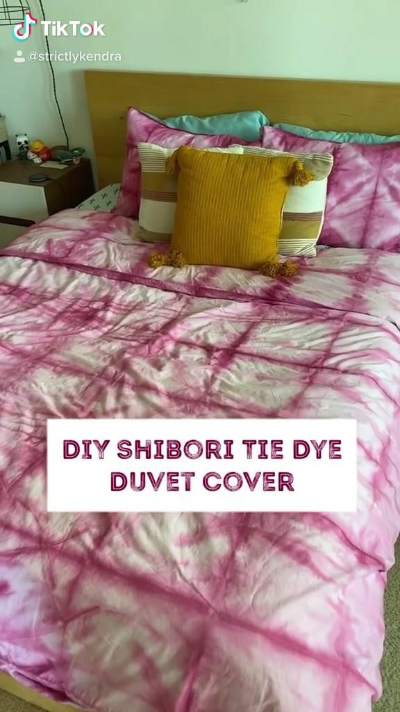 Diy Shibori Tie Dye Duvet Cover How I Made Urban Outfitters Bedding Cheaply Video Tie Dye Duvet Tie Dye Bedding Diy Tie Dye Techniques