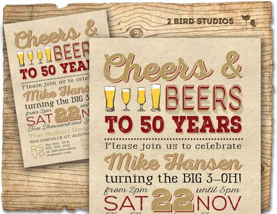 50th Birthday Invitation- Surprise Party 50th birthday invite - 50th birthday party DIY printable invitation - Vintage - 30th 40th 60th