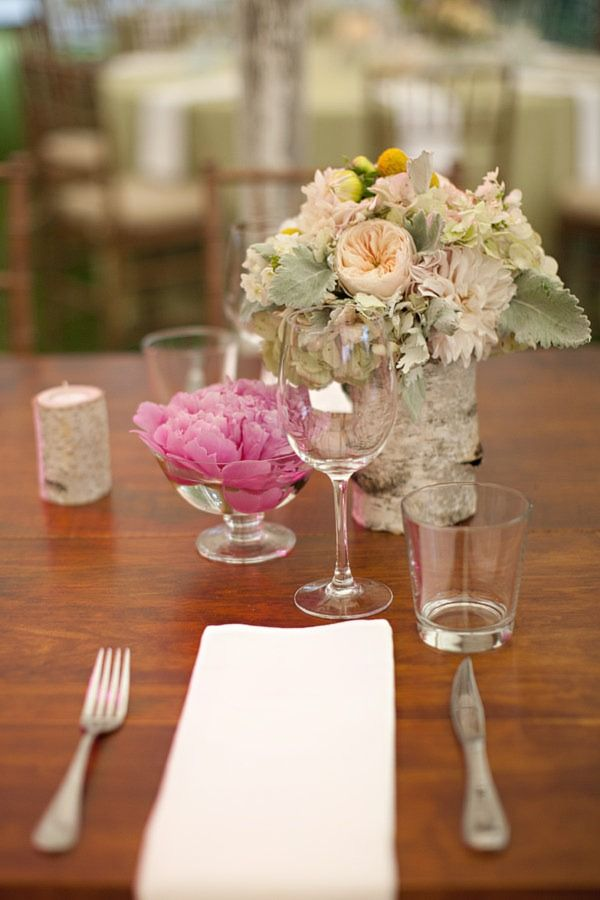 Same table as the other image.  Make all the flowers peonies or dahlias or some other bright bloom, and this is great.