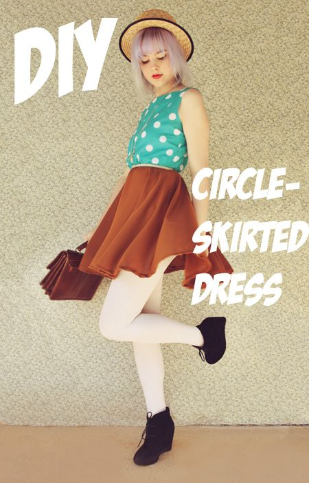 The Pineneedle Collective: DIY: Circle Skirted Dress tutorial