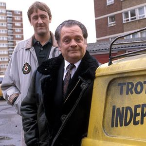 Only Fools And Horses. Image shows from L to R: Rodney (Nicholas Lyndhurst), Del (David Jason). Image credit: British Broadcasting Corporati...