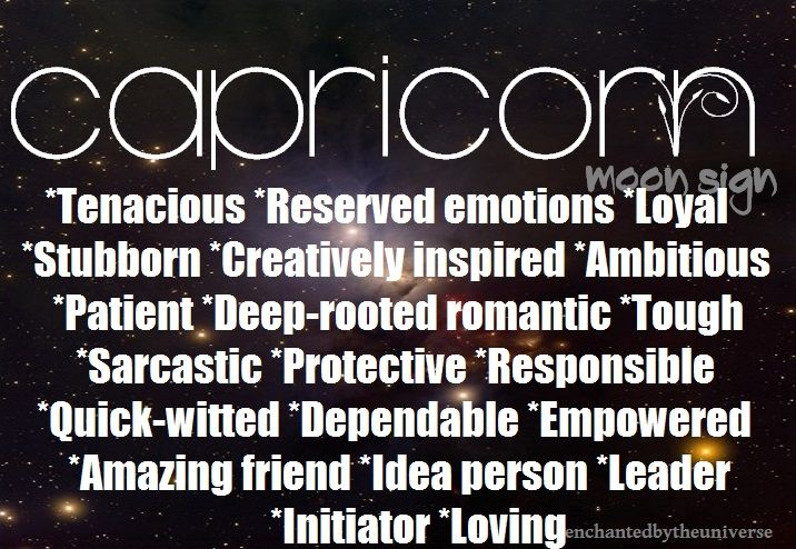 Capricorn Moon Sign Astrology