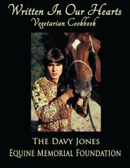 #Vegetarian #Cookbook Authored by The Davy Jones Equine Memorial Foundation Edition: 1  This is a vegetarian cookbook that includes recipes, photos, and stories contributed by friends, family, and fans of the late #Monkees star, Davy Jones. Proceeds benefit the Davy Jones Equine Memorial Foundation.