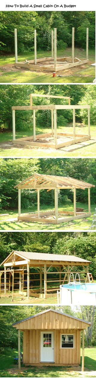 How To Build A Small Cabin On A Budget - XnY Do It Yourself Ideas For Your Home ✿