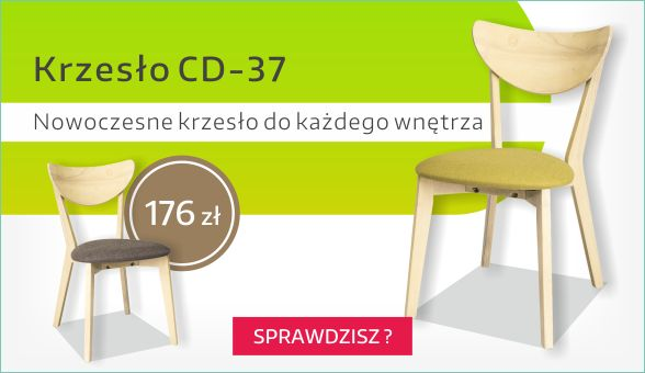 Krzesło CD-37 firmy Signal wykonane jest w stylu skandynawskim charakteryzujące się prostotą.