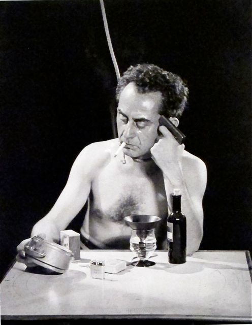 "Man Ray  ""Suicide""  (Self-portrait)  From the negative  1932. Image from:  ""Man Ray 