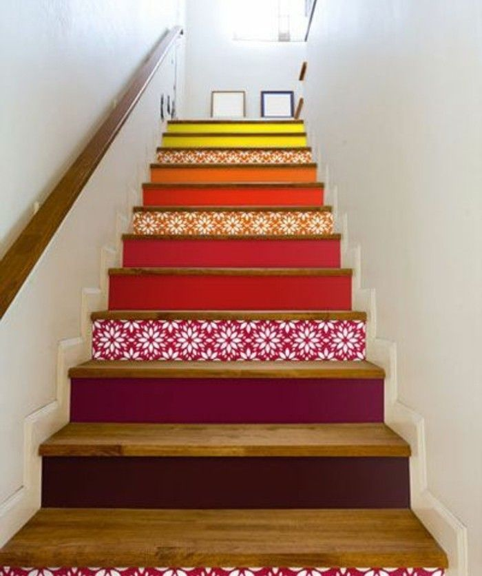 1000 ideas about peinture escalier bois on pinterest rampe noire peinture escalier and for Peindre un escalier en bois verni