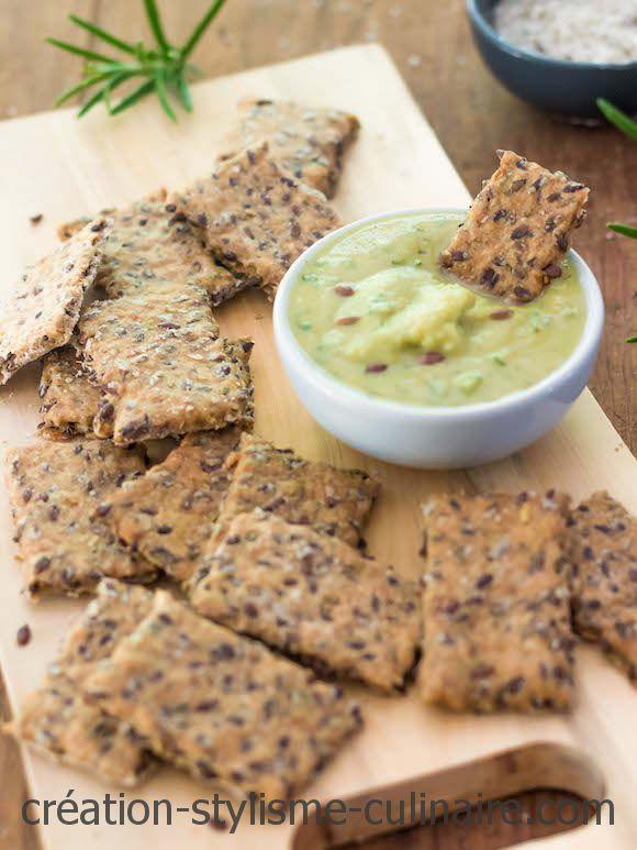 Crackers sans gluten aux graines de lin - Je cuisine sans gluten