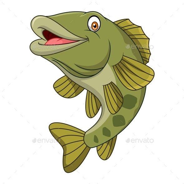 Cartoon Bass Fish Ad Cartoon Sponsored Bass Fish In 2020 Print Design Fashion Cartoon Bass Fishing