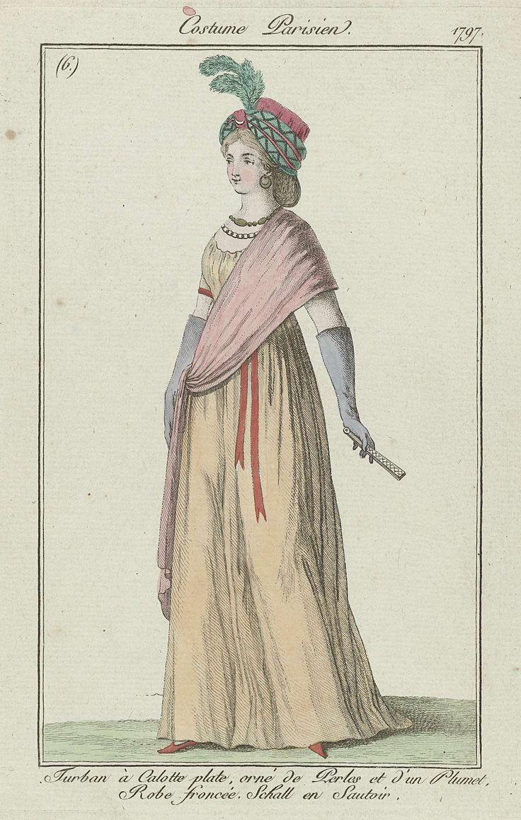 Journal des Dames et des Modes, Costume Parisien, 21 septembre 1797, (6)(bis): Turban à Calotte..., Anonymous, 1797
