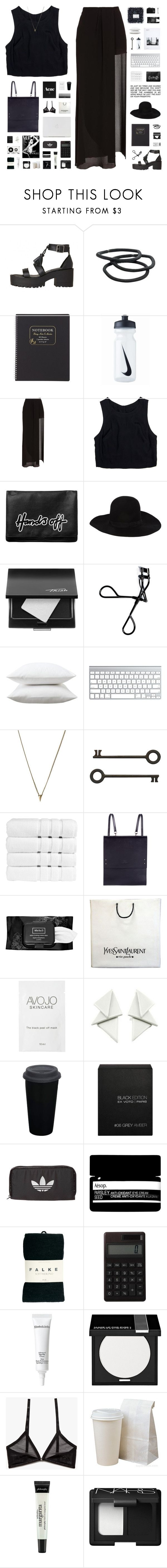 """""""HALLELUJAH // tag"""" by c-hristinep ❤ liked on Polyvore featuring Goody, J.Crew, NIKE, Acne Studios, Lush Clothing, Monki, Dsquared2, Trish McEvoy, Bobbi Brown Cosmetics and Fieldcrest"""