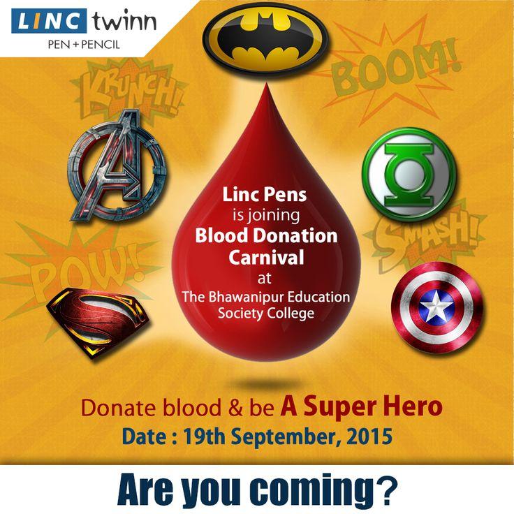 Give blood to gift life. #BloodDonation #DonateBlood #LincPens #SaveLife #SuperHero