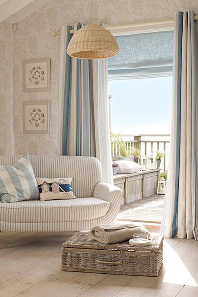 Wallpaper and colours. From the Laura Ashley Coastal collection.                           Perfection!