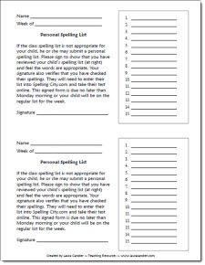 How to differentiate spelling by allowing students to create personalized spelling lists. (Freebie)